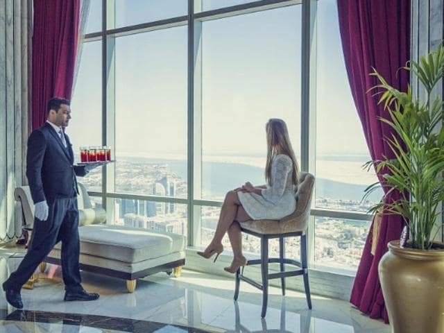 The Abu Dhabi Suite at the St. Regis Abu Dhabi holds bragging rights to being the highest suspended suite in the world.