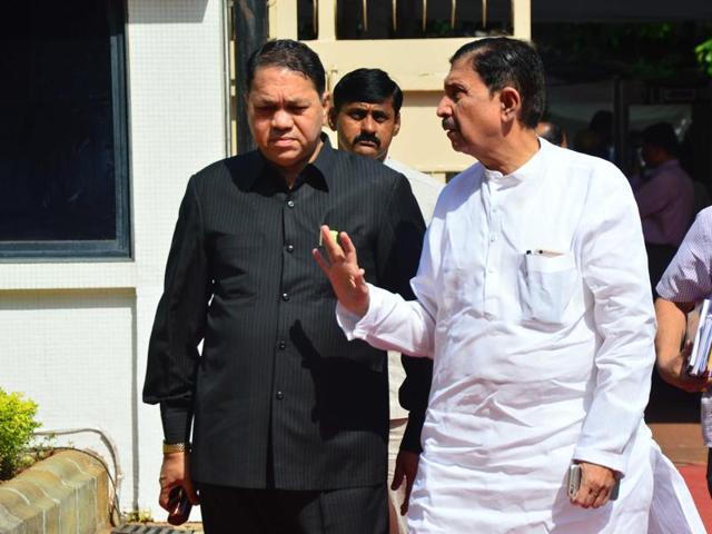Chief minister Devendra Fadnavis outside the Vidhan Bhavan on Tuesday.