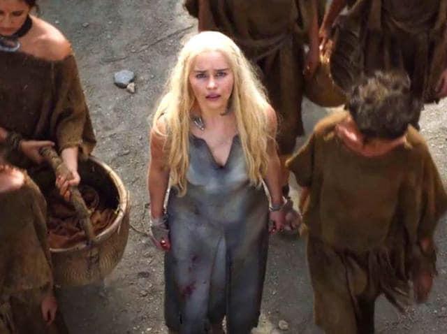Daenerys has been taken prisoner by the Dothraki.