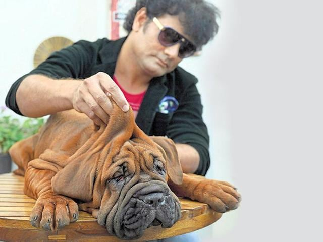 Cadabom with one of the Rs 1-crore four-month-old pups.