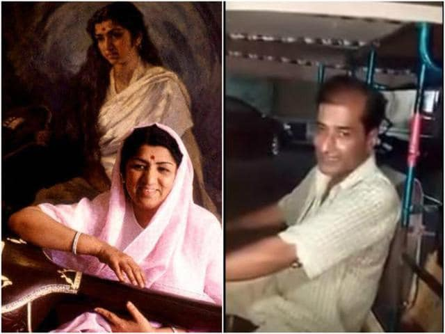 Sharing the video on her Facebook page, Lata Mangeshkar wrote that such a talent should be in front of the mike instead of driving an auto.