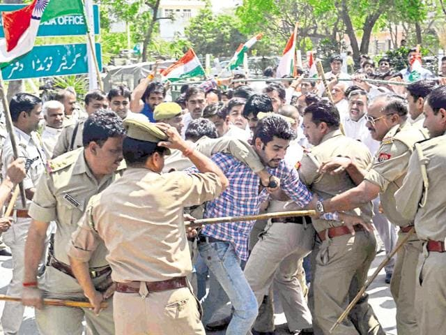 Farmers said 15 of them were injured in the police action on Tuesday.