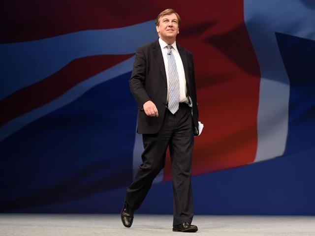 Britain's culture secretary John Whittingdale leaves 10 Downing Street in London on Tuesday.