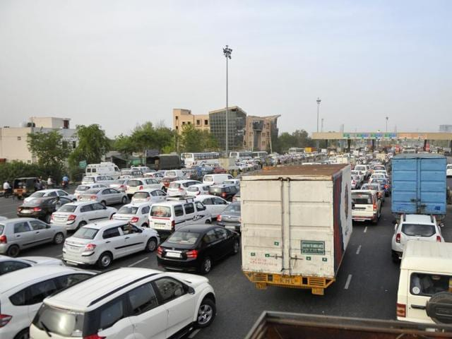 Gurgaon, which is struggling with traffic congestion, hopes that  the car rationing scheme will help cut traffic on the city roads.