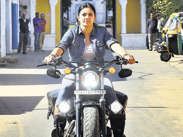 Veenu Paliwal, the lone female Harley-Davidson rider from Rajasthan was known for driving her bike at very high speed, but advocated road safety and was wearing protective gear at the time of her accident. (Photo by Himanshu Vyas/ Hindustan Times)
