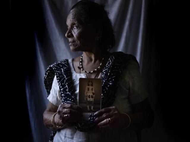 Sunita Chadha's mother Kamala Zutshi at her home in Rohini.