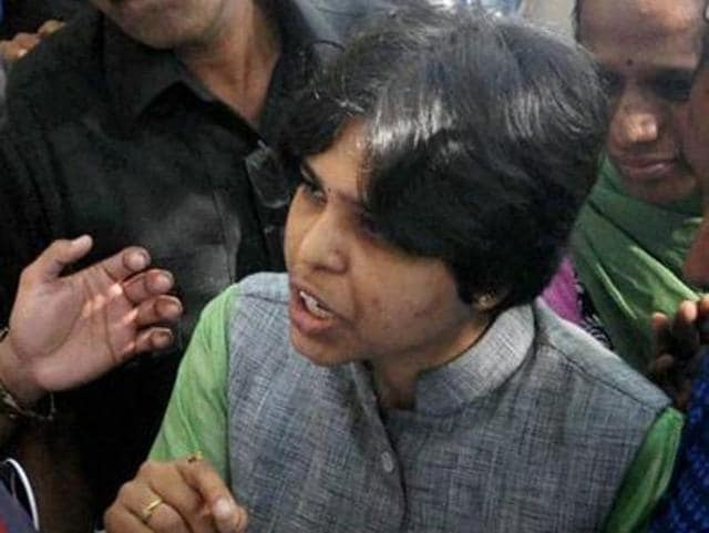 Women activist Trupti Desai was allegedly asked by police to wear a saree during her visit to the Mahalaxmi temple on Wednesday.