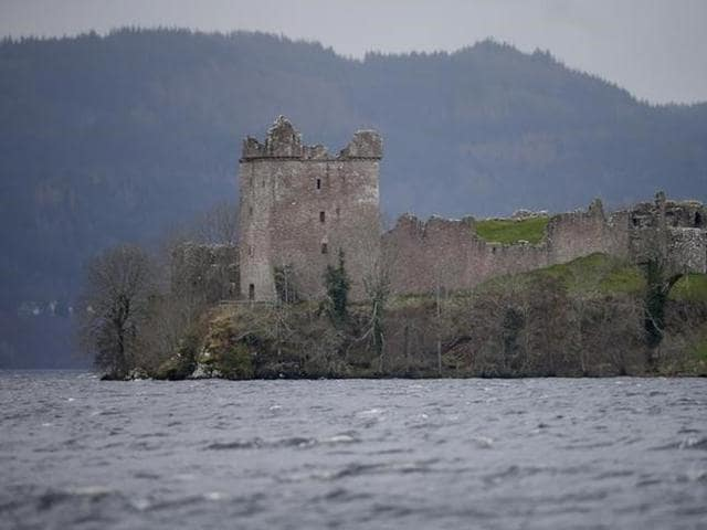 Urquhart Castle is seen on the edge of Loch Ness in Scotland, Britain.