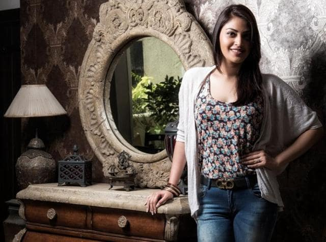 Actor Anushka Rajan at her Versova residence