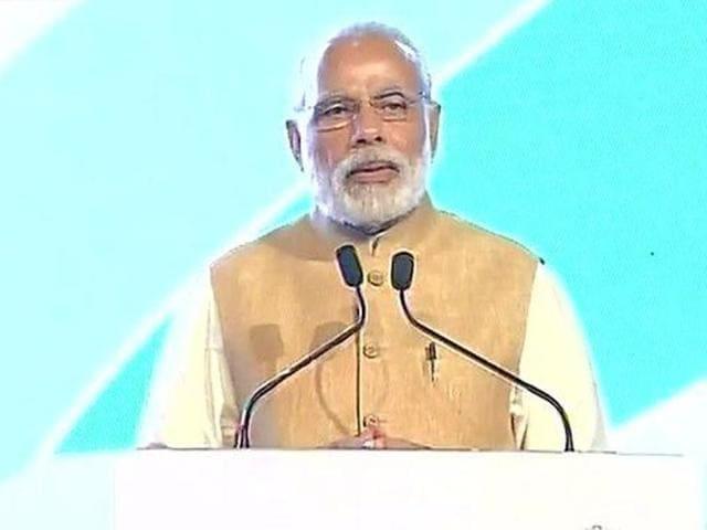 Prime Minister Narendra Modi inaugurate India's first-ever three-day Maritime India Summit (MIS) in Mumbai on April 14, 2016.