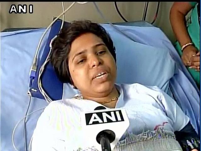 Trupti Desai was hospitalised after she suffered injuries in a scuffle at the Mahalaxmi temple in Kolhapur.