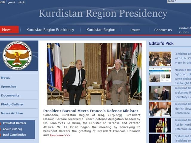 The region's presidency and government already use it for their websites in Kurdish, Arabic and English at www.presidency.krd and www.gov.krd.