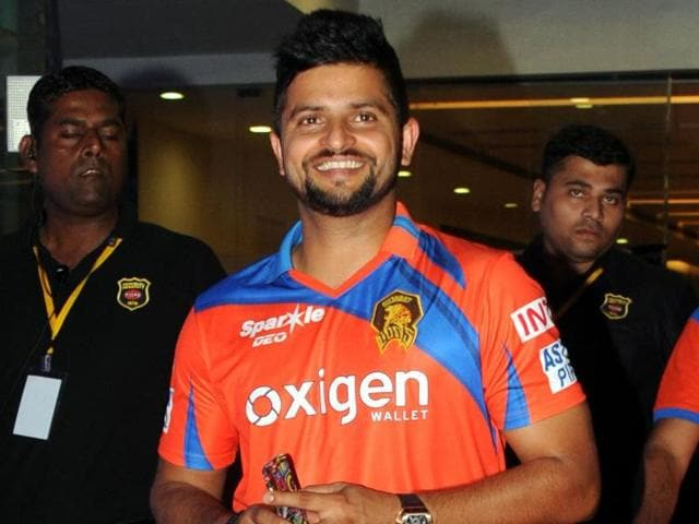 Indian cricketer Suresh Raina poses as he attends the opening ceremony of the IPL 2016.