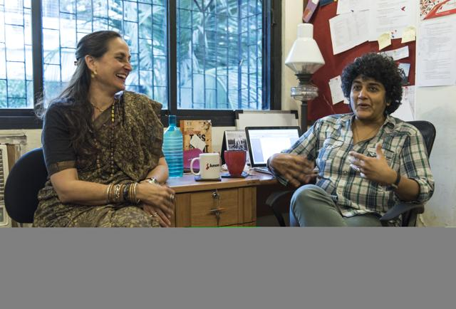 Sanjana Kapoor and Sameera Iyengar at Junoon's office in Versova
