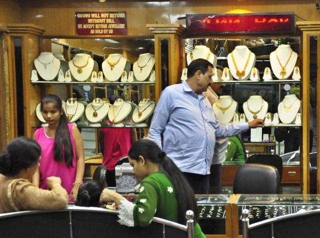 Customers were seen placing orders at various jewellery shops across the city on Wednesday.