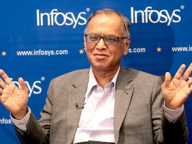 Co-founder and former chairman of Infosys Technologies NR Narayana Murthy.
