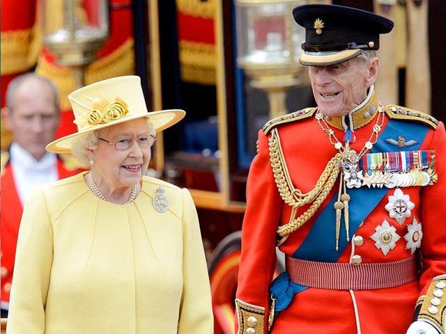 A file photo of the British monarch Queen Elizabeth II and her husband Prince Philip, the Duke of Edinburgh.