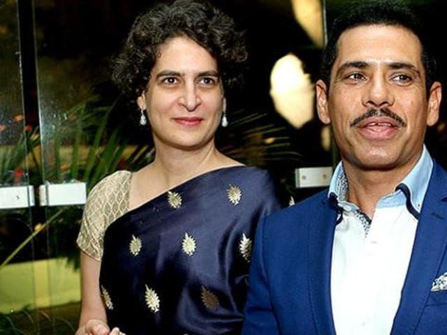 Priyanka Gandhi Vadra with husband Robert at a wedding reception.