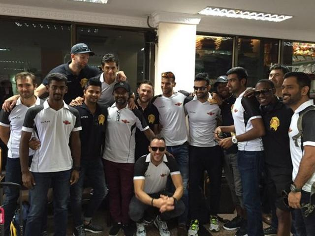 Former Chennai Super Kings players recreated a CSK moment when they posed for a picture together.