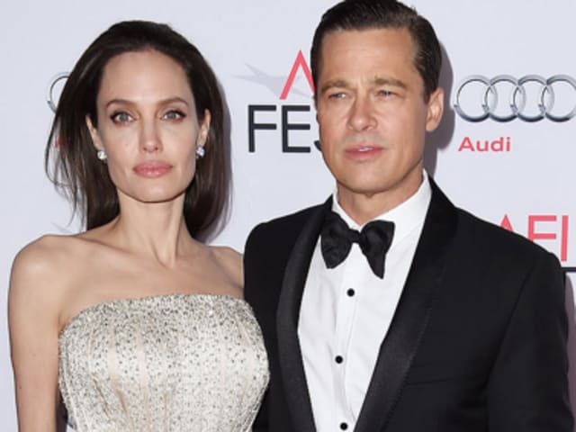 A file picture of Angelina Jolie and Brad Pitt. Reports say the couple have separated and may file for divorce.