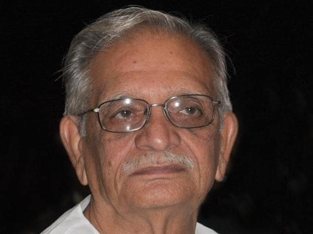 Noted poet and filmmaker Gulzar during his book release function at Government Art Museum, Sector 10, in Chandigarh in March last year. PU vice-chancellor Arun Kumar Grover (right) is also seen.