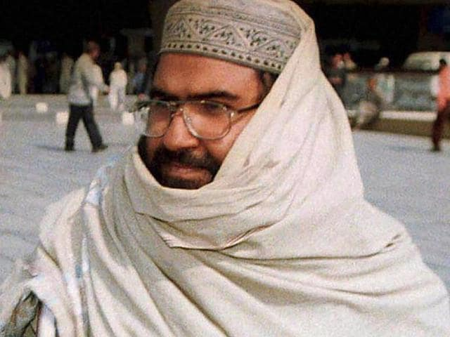 File photo of Jaish-e-Mohammad  chief Maulana Masood Azhar (R). India's bid to get Azhar's name in the list of banned terrorists at the UN was vetoed by China.