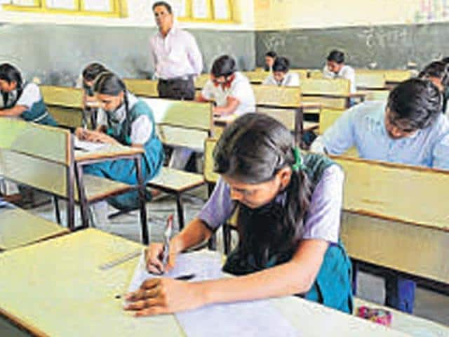 Students write MP board exam that began on March 1.