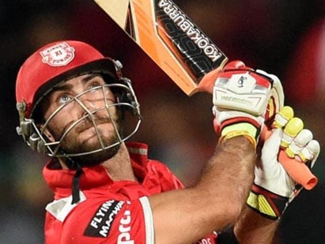Kings XI Punjab batsman Glenn Maxwell was reprimanded for showing dissent at an umpiring decision against Delhi Daredevils.