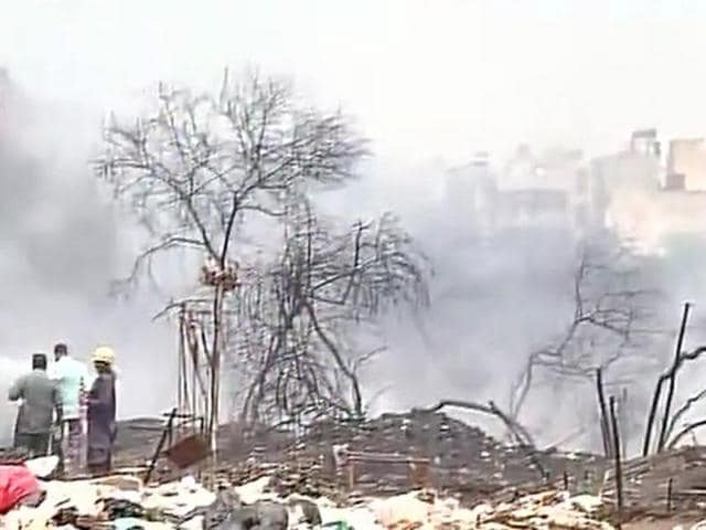 Fire in Dwarka slum