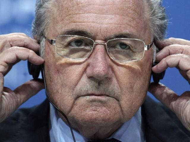 A file photo of Sepp Blatter after the 61st FIFA Congress in Zurich, Switzerland.