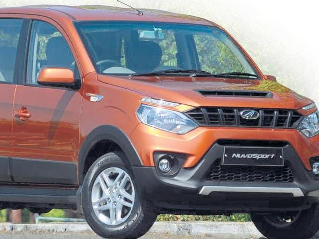 Mahindra &Mahindra's  new SUV NuvoSport.  The front draws your attention, but it's not what you'd call pretty.