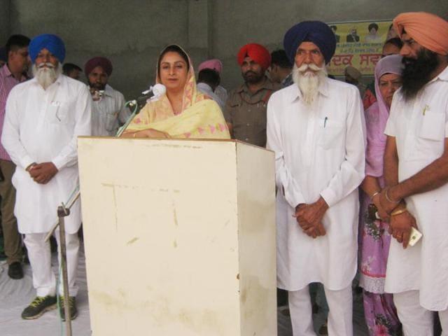 Harsimrat Kaur Badal,sangat darshan,Captain Amarinder Singh