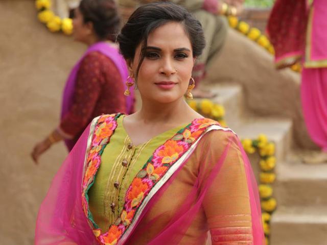 Actor Richa Chadha in a still from film Sarabjit.