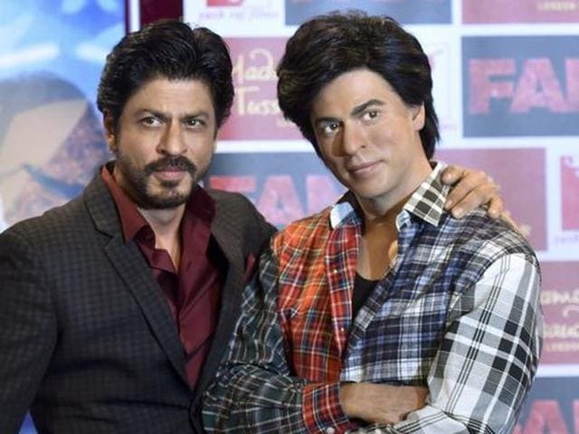Bollywood actor Shah Rukh Khan speaks during a news conference at Madame Tussauds in London, Britain April 13, 2016. REUTERS/Hannah McKay