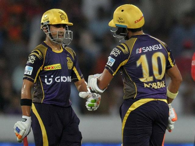 Gautam Gambhir and Robin Uthappa's solid start took Kolkata Knight Riders comfortably to victory over Sunrisers Hyderabad.