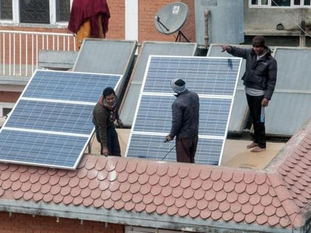 The Indian renewable energy space has suddenly become a hotspot for large companies and investors, who want to tap the country's potential.(AFP Photo)