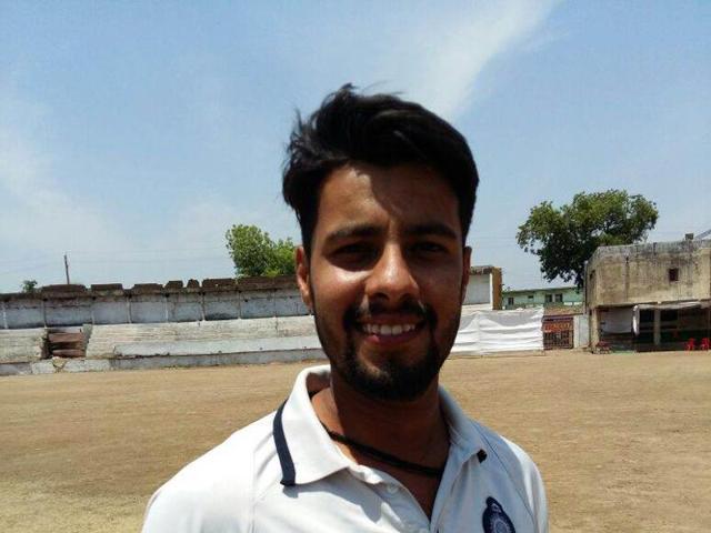 Right arm leg break bowler Palash Kochar.