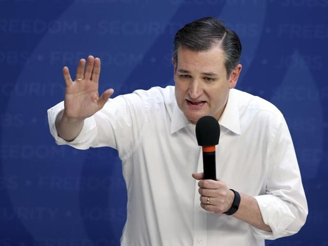 Republican presidential candidate Sen. Ted Cruz, R-Texas, speaks at a campaign rally.
