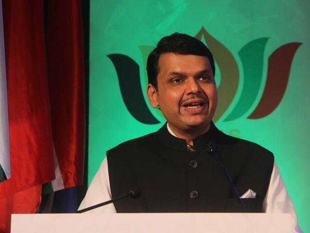 Chief minister Devendra Fadnavis with delegates during the valedictory session of BRICS Friendship Cities Conclave in Mumbai on Saturday.