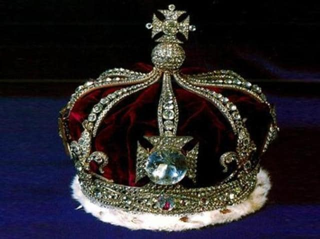 Once the largest known diamond in the world, the Kohinoor diamond is set in a crown last worn by the late mother of Queen Elizabeth II during her coronation.