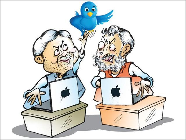 Between October last year and this Sunday (April 17), Nitish Kumar, who uses the Twitter handle @NitishKumar to air his views on the microblogging site, has amassed 1.86 lakh new followers.