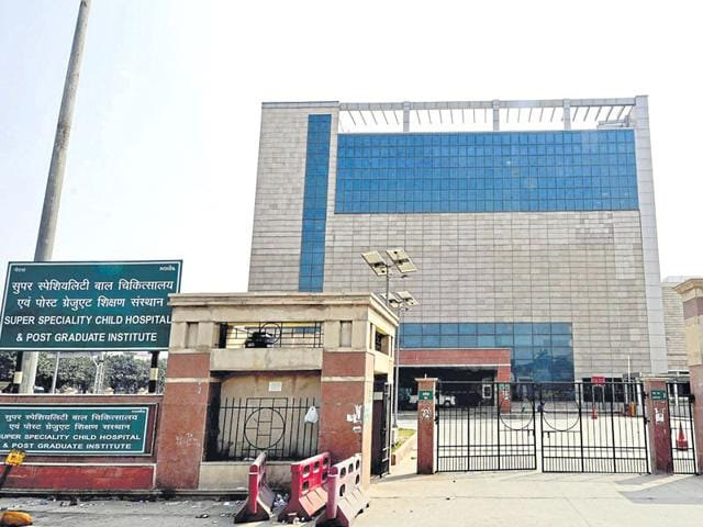 The  super speciality hospital and post graduate institute was developed at a cost of Rs 701 crore in sector 30, Noida.