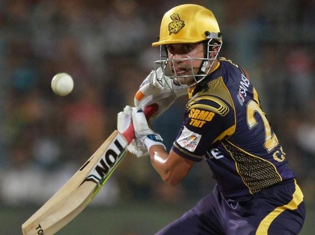 Kolkata Knight Riders cricketer Gautam Gambhir plays a shot during the 2016 Indian Premier League.
