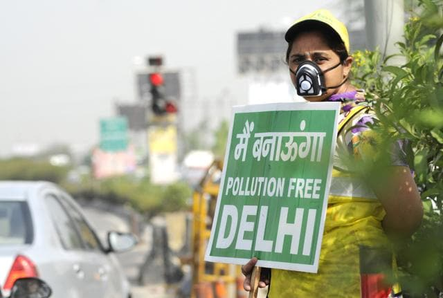 Air quality monitoring sensors are becoming more popular as the awareness about air pollution is increasing. These can be bought online for as low as Rs 4,000. The Delhi government recently bought a few portable sensors, each of which costs close to Rs 5 lakh. . (Photo by Burhaan Kinu / Hindustan Times)