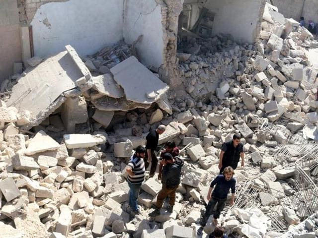 Ten children have been killed by rebel shelling on Syria's Aleppo.