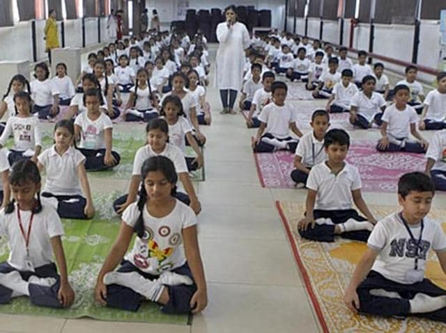 The committee holds that including yoga in NET will go a long way in promoting the discipline as a career option in teaching.(File photo/ HT)