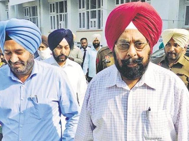 Zira DSP Hardev Singh (left) and DIG Kultar Singh in a file photo.