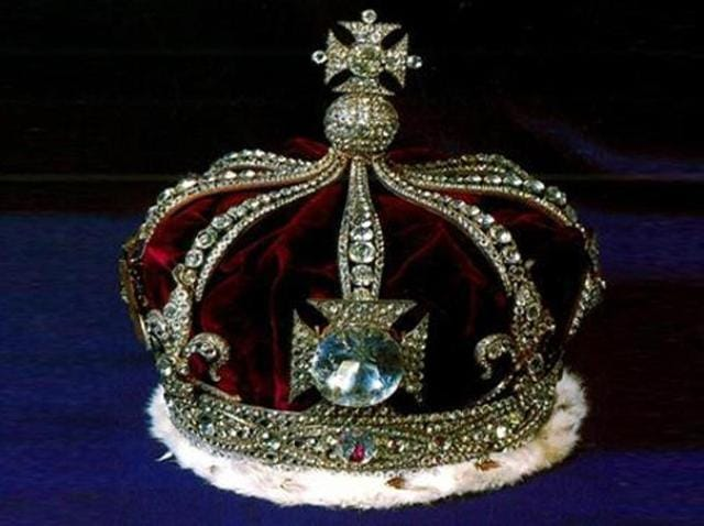 The Kohinoor diamond as part of the British Monarch's crown.(HT File Photo)