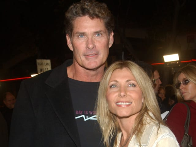David Hasselhoff with his ex-wife Pamela Bach.