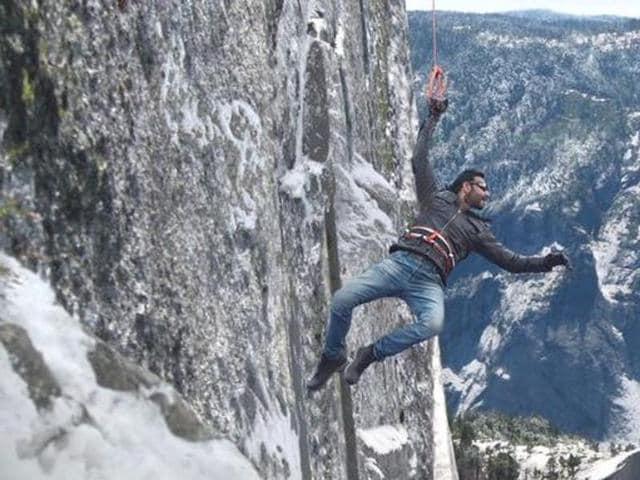 Ajay Devgn shooting for Shivaay in Bulgaria. (Twitter)
